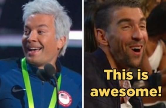 Michael Phelps achou o máximo a imitação de Ryan Lochte por Jimmy Fallon