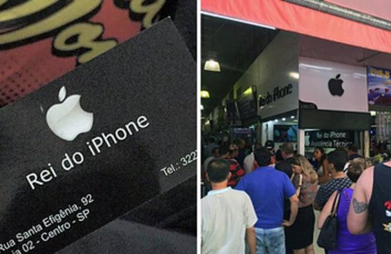 A loja que consertou um iPhone de graça está ficando lotada