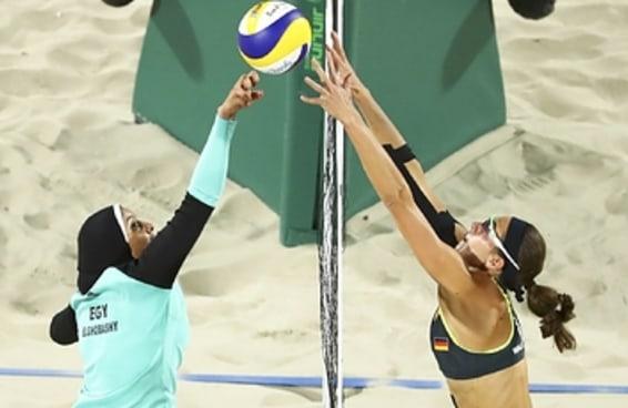 As pessoas estão impressionadas por esta foto do vôlei de praia