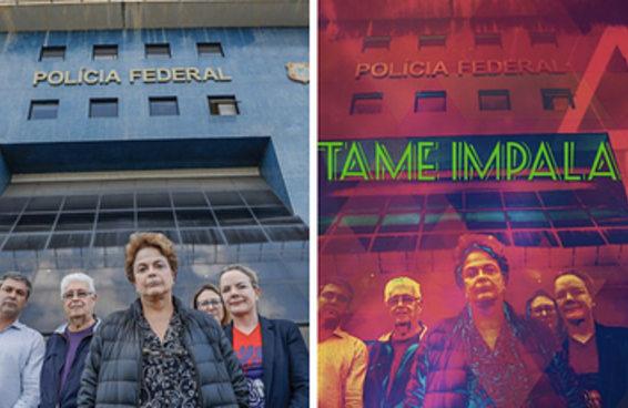 13 capas de disco possíveis com a foto da Dilma na PF