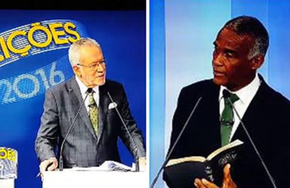 O debate em Salvador teve climão entre um candidato e Alexandre Garcia