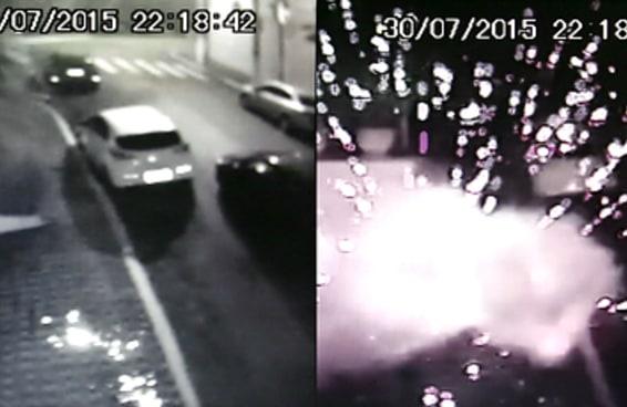 Veja imagens do ataque à bomba registradas pelas câmeras do Instituto Lula