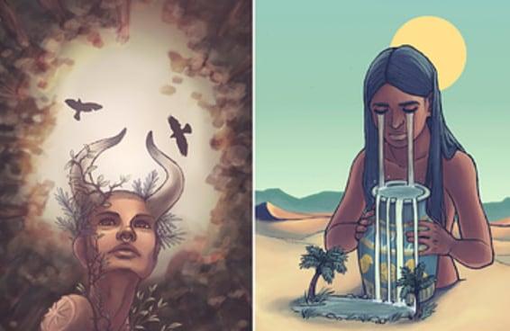 Os pôsteres desta ilustradora recriam os signos como se fossem deusas e são lindos demais