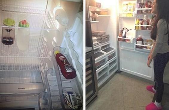 É assim que você se sente quando não tem nada na geladeira