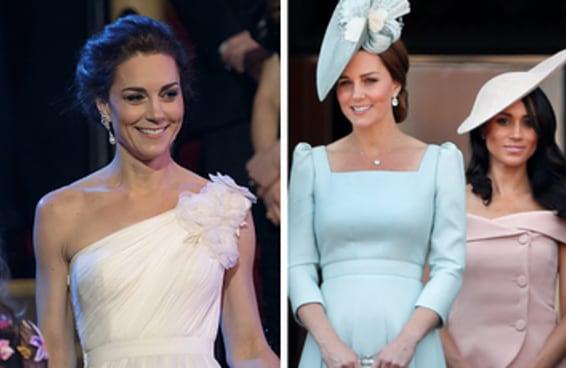 A comparação dos vestidos da Kate Middleton e da Meghan Markle ressuscitou uma narrativa que ninguém aguenta mais