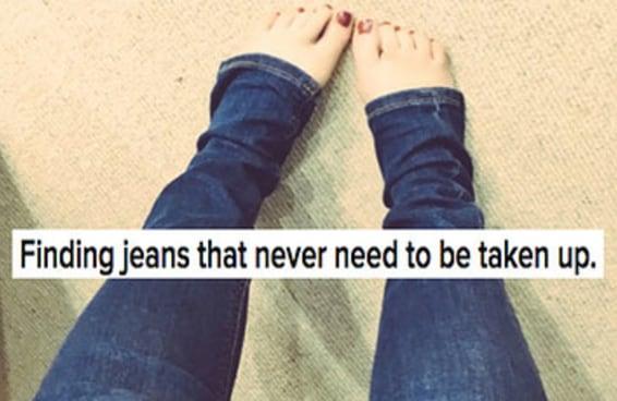 23 coisas que soam falsas para garotas baixinhas