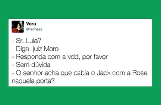 16 diálogos entre Lula e Moro imaginados pela internet