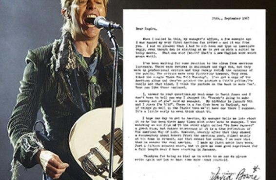 Leia a adorável carta que David Bowie enviou para uma fã de 14 anos
