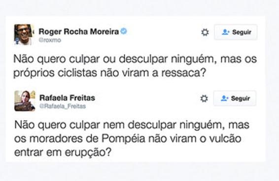 Roger fez um tuíte completamente infeliz sobre a ciclovia do Rio e virou piada