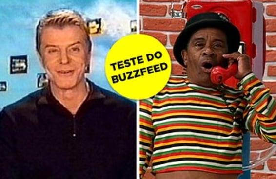 Só quem é muito velho vai gabaritar este teste de famosos