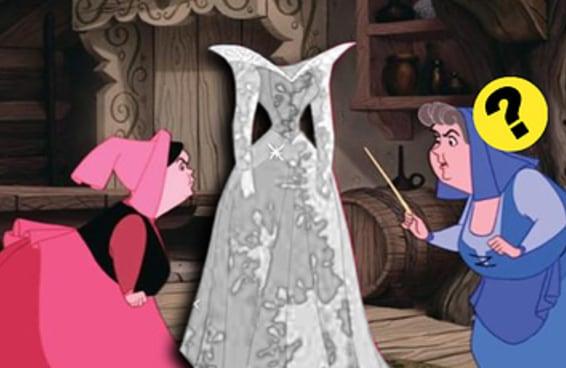 Você sabe de quem são esses vestidos da Disney sem nenhuma cor?