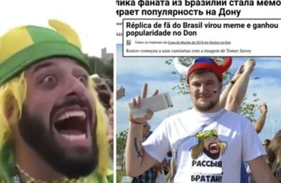 """Os russos arrumaram um torcedor brasileiro pra chamar de """"meu meme"""""""