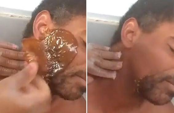 As pessoas estão pirando com este vídeo de um cara sendo depilado