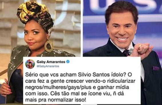 Gaby Amarantos apontou os preconceitos do Silvio Santos e o Twitter virou um bate-boca