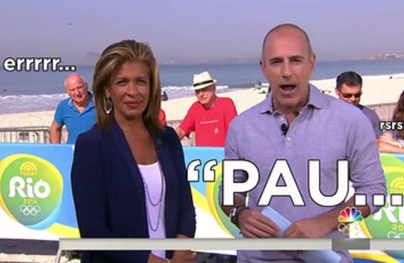"""Um apresentador quis falar """"Pão de Açúcar"""" na TV americana, mas saiu outra coisa"""