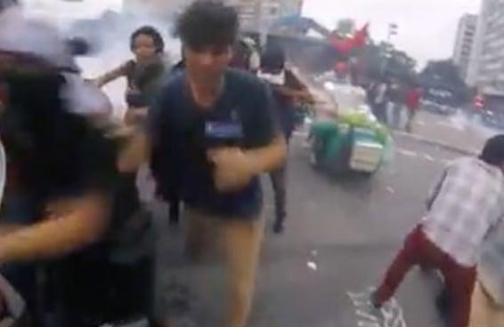 Este vídeo da manifestação de terça-feira filmado com uma GoPro é impressionante
