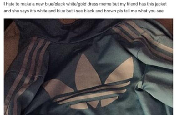 De que cor é esta jaqueta?