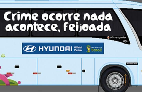 16 frases que poderiam ser o lema do Brasil no ônibus para a próxima Copa