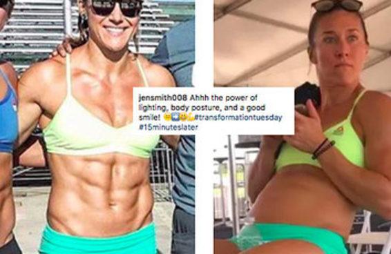 Esta atleta de Crossfit revelou a verdade por trás daquelas fotos de transformação que vemos no Instagram