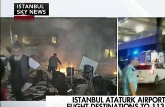 Esta foto que viralizou não é do atentado a bomba no Aeroporto de Istambul