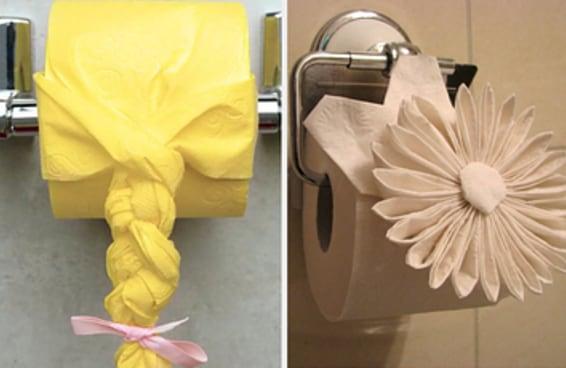 Seus hábitos no banheiro vão dizer qual arte em papel higiênico você é