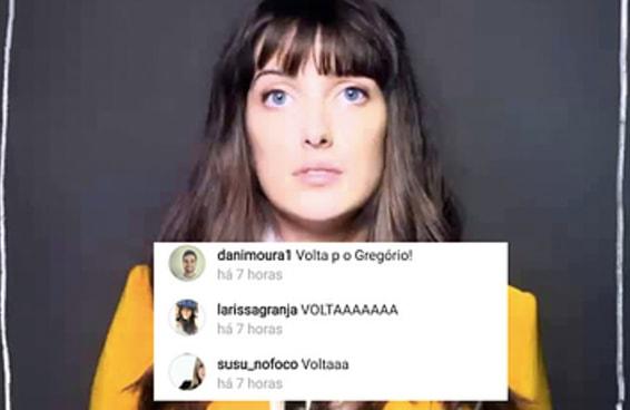 Fãs estão lotando o Instagram da Clarice Falcão por causa do texto do Gregório Duvivier