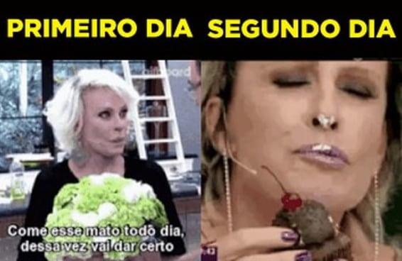 Um gif da Ana Maria Braga é exatamente você fazendo dieta