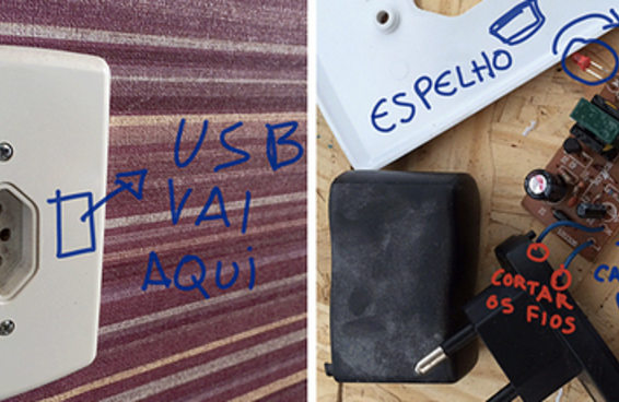 Um gif te ensina a fazer uma tomada USB com R$ 5