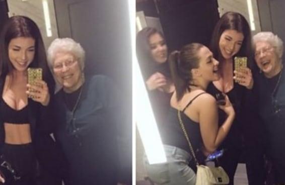 Estas jovens acolheram uma senhorinha em seu grupo após ela dizer que sentia falta de suas amigas