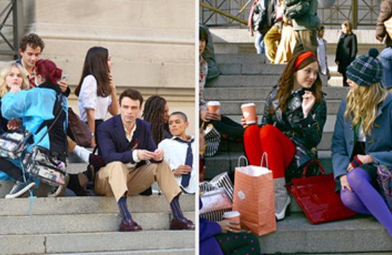 Atenção: o reboot de Gossip Girl está sendo filmado nas escadarias do Museu Metropolitano de Arte de Nova York