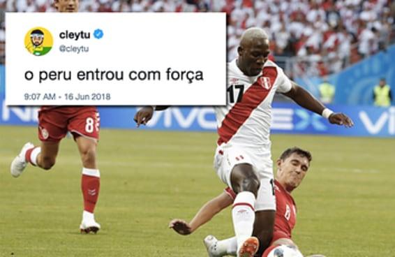 Parece que não há como assistir ao jogo do Peru sem fazer trocadilhos