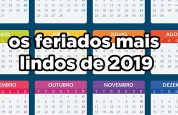 Estes são os feriados prolongados de 2019