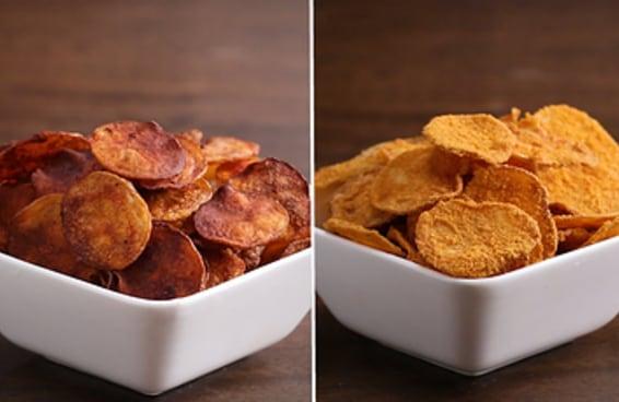 Aprenda a fazer estes quatro sabores de batata chips caseira