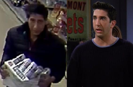 """A polícia está atrás de um suposto ladrão igual ao Ross de """"Friends"""" e isso virou um meme imenso"""