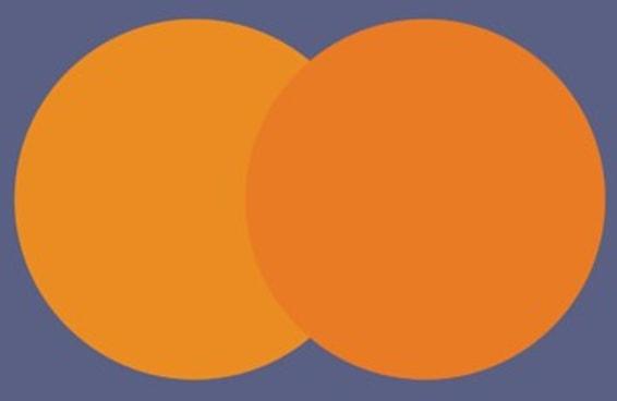 Você consegue ver qual círculo está na frente?