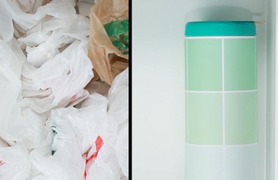 """Finalmente uma solução """"faça você mesmo"""" para todas as suas sacolas plásticas"""