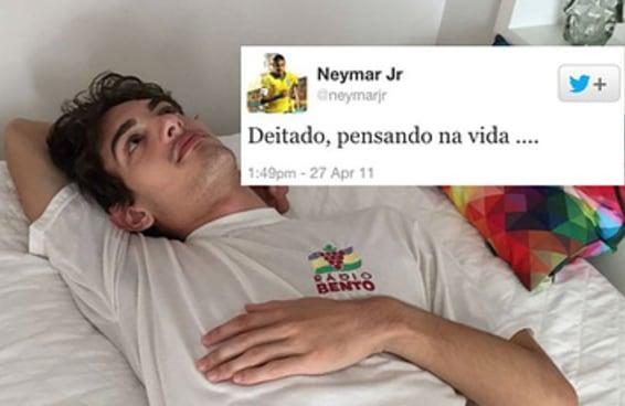 Este casal fez um ensaio fotográfico baseado nos tuítes famosos do Neymar