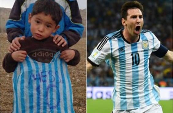 O menino que usou uma camisa do Messi feita de saco plástico vai conhecer seu herói