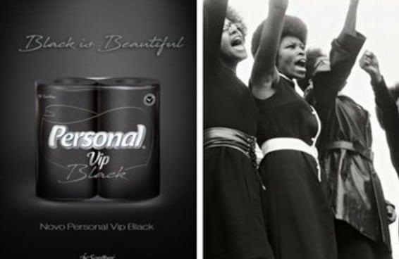 O novo papel higiênico preto da Personal não é racista, mas seu slogan sim