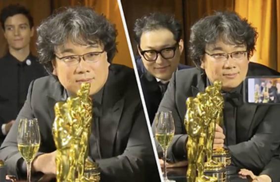Este vídeo de Bong Joon-Ho durante a gravação do nome de todas as suas estatuetas do Oscar é a melhor coisa que você verá hoje
