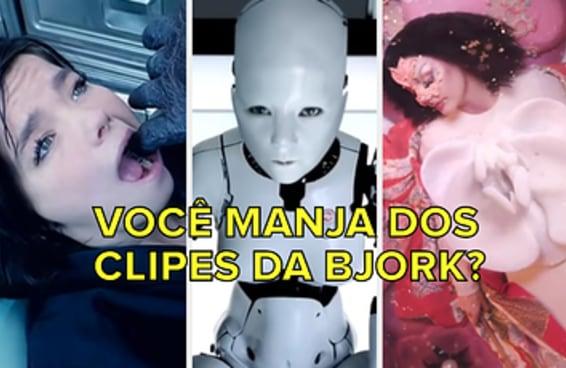 Você consegue descobrir qual o clipe da Björk com apenas uma imagem?