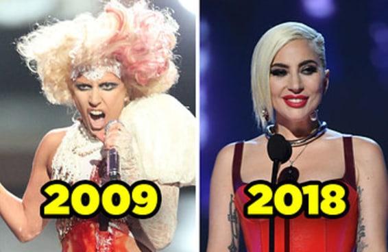 Nossas celebridades favoritas em seu primeiro VMA vs. como estão hoje
