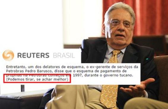 Agência sugere omitir menção ao PSDB no escândalo da Petrobras