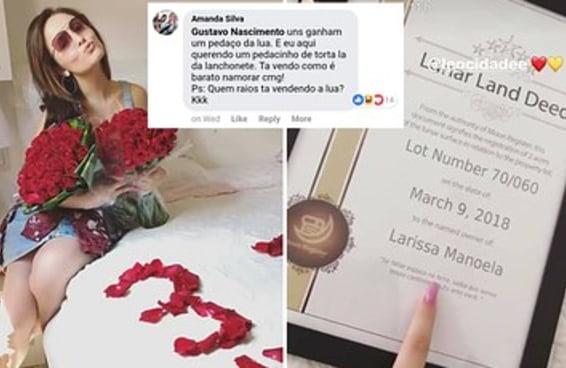 Larissa Manoela ganhou um pedaço da Lua por três meses de namoro