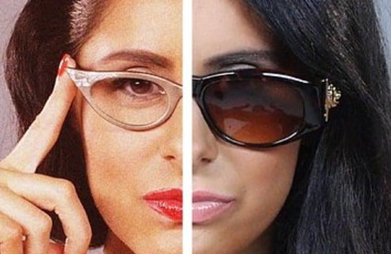 A evolução dos óculos femininos