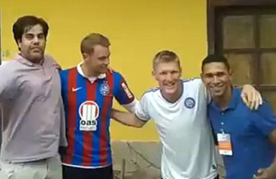 Reações do Schweinsteiger e do Neuer com a camisa do Bahia às 7 notícias mais doidas da Copa