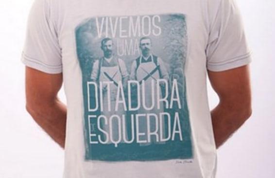 Existe uma loja online que vende apenas camisetas com slogans de direita
