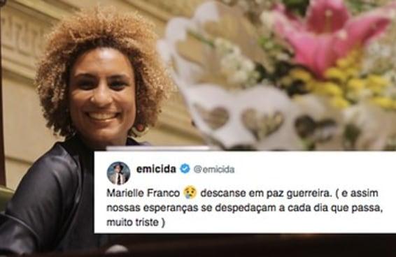 Alguns dos tuítes sobre a vereadora Marielle Franco, assassinada no Rio