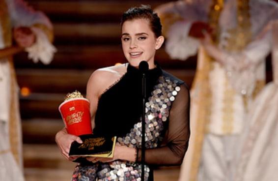 A Emma Watson recebeu o primeiro prêmio de atuação sem distinção de gênero da história das premiações