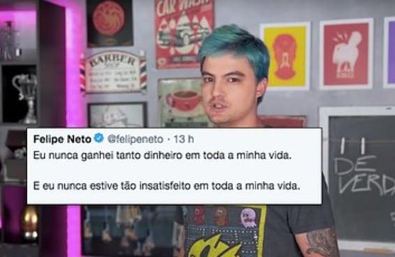 O Felipe Neto ficou rico e trouxe más notícias para nós